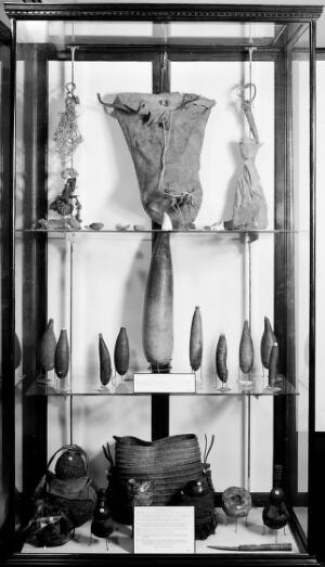 view Wellcome museum, primitive medicine: bags and accessories