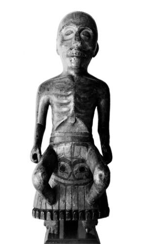 view Figure of a Haida Shaman, broken legs and starvation