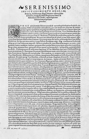 "view Dedication to Henry VIII ""Compendiosa...anatomiae"""