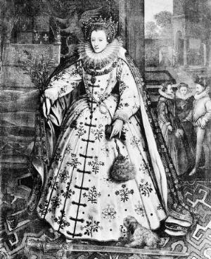 view Portrait of Queen Elizabeth I at Wanstead Palace.