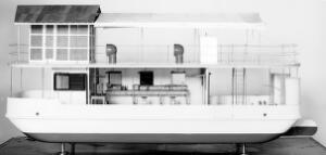 view Model of Wellcome's floating laboratory.