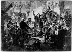 view Nicolas Copernicus lecturing,