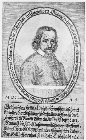view Portrait of Johann Rudolph Glauber