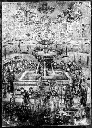 view Byzantine Plaque of the Fountain of Life.