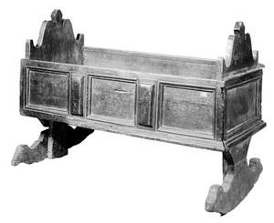 view Child's cradle, Italian, 16th-17th century.