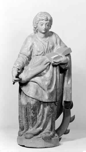c3994038216d9 Statue of Saint Catherine of Alexandria. Represented with spiked wheel