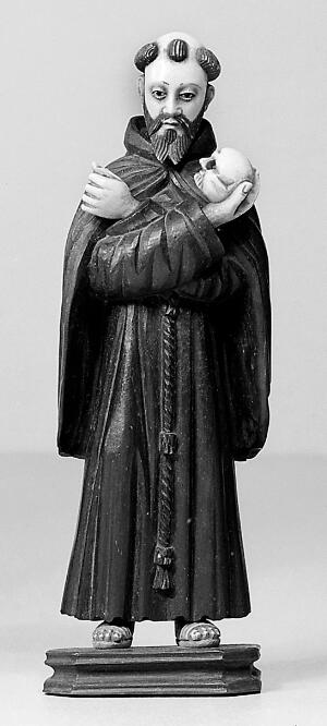 view Statue , probably Saint Francis of Assisi.