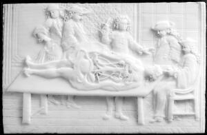 view A demonstration in anatomy, carved ivory plaque