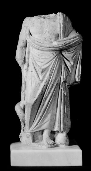view Headless statue of Aesculapius, copy of a cult statue of the 4th or 3rd century B.C.