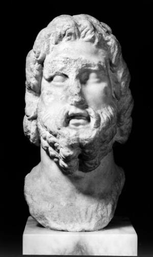view Votive bust of Aesculapius.
