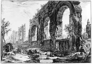view The Aquaduct of Nero. Impression in the British Museum.