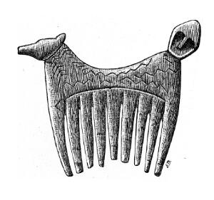 view Bone comb, supposedly Neolithic, from Gullrum Swedeh