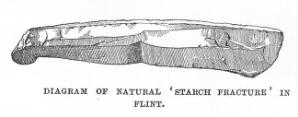 view Example of starch fracture in flint.