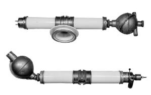 view X-ray tubes. Modified version of the Coolidge tube. G.R. Doglass insert tube (water-cooled) tube.
