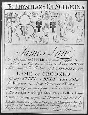 view Truss-maker's trade-card