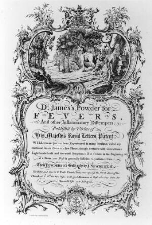 view 'Dr. James's Powder for Fevers'