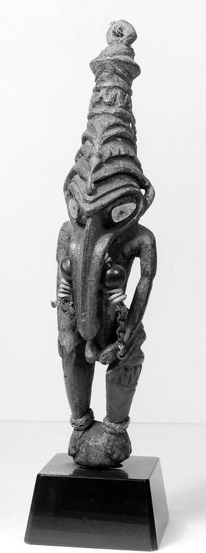 view Ancestoral effigy with long proboscis, New Guinea.