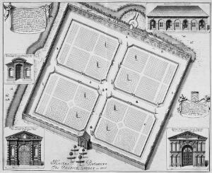 view The Botanical Gardens, Oxford, 1675
