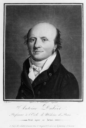 view Antoine, Baron Dubois. Colour mezzotint by Gautier after L. L. Boilly.