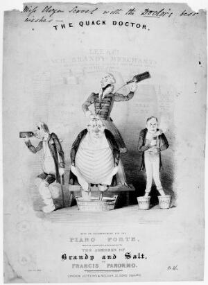 view Song sheet with illustration: 'The quack doctor'.