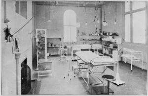 view The West London Hospital. Operating theatre reconstructed.