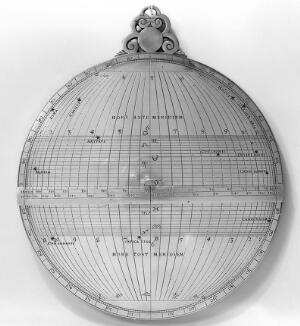 view The back of an astrolabe.