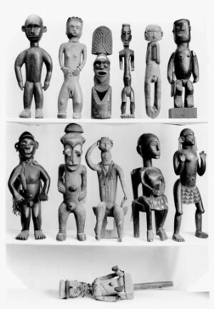 view Twelve African statues, effigies