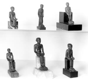 view Imhotep, six Ancient Egyptian figures