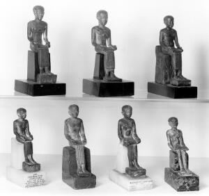 view Imhotep, seven Ancient Egyptian figures