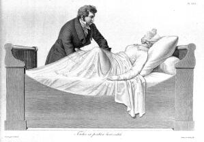 view Vaginal examination , from Maygrier, Nouvelles...1825