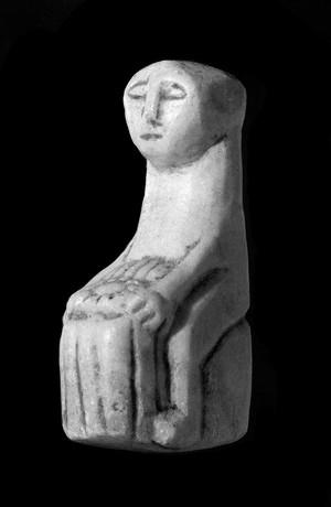 view Amuletic stone figurines to ensure fertility, Bolivia.