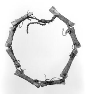 view Amuletic necklet, made of bones of relative, Andaman Islands