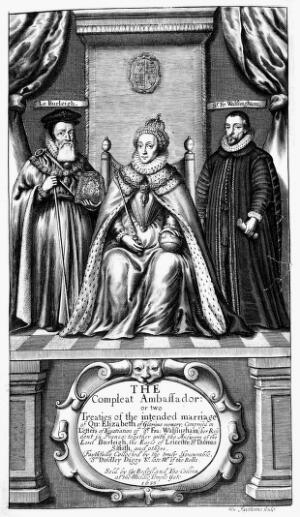 view Portraits: Queen Elizabeth, Lord Burleigh and Sir Walsingham