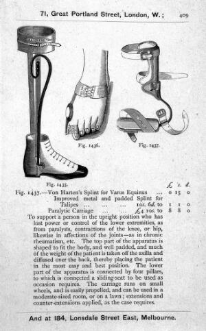 view Orthopaedic instruments, 19th century.