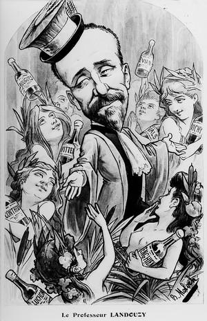 view Portrait caricature of L.T.J. Landouzy (1845-1917).