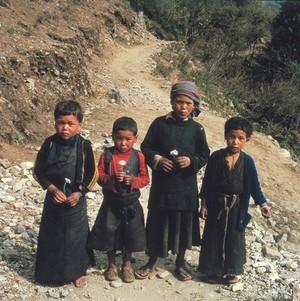 view Nepal, Sherpa children of the Khumbu, 1986