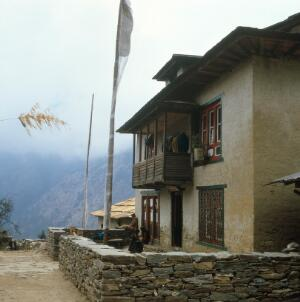 view Nepal; town life in the Khumbu, 1986