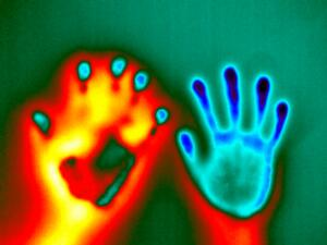 view Thermal hand prints