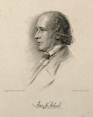 view Sir Henry Wentworth Acland. Stipple engraving by C. Holl after G. Richmond.