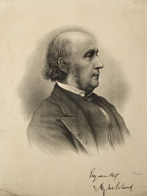 view Sir Henry Wentworth Acland. Lithograph.
