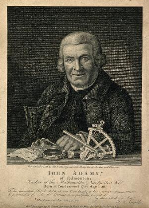 view John Adams. Engraving by J. T. Smith, 1795.
