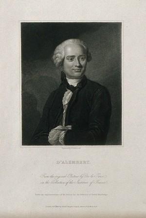 view Jean le Rond d'Alembert. Stipple engraving by W. Hopwood after M. de la Tour.
