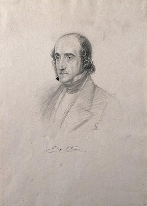 view Vincenzio Antinori. Pencil drawing by C. E. Liverati, 1841.