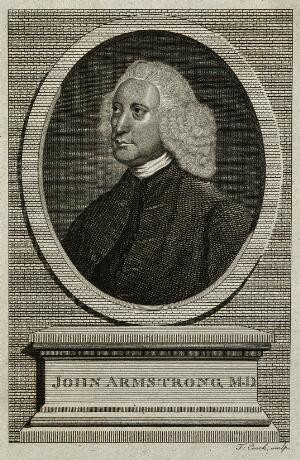 view John Armstrong. Line engraving by T. Cook after Sir J. Reynolds.