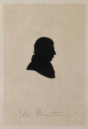 view John Armstrong. Silhouette.