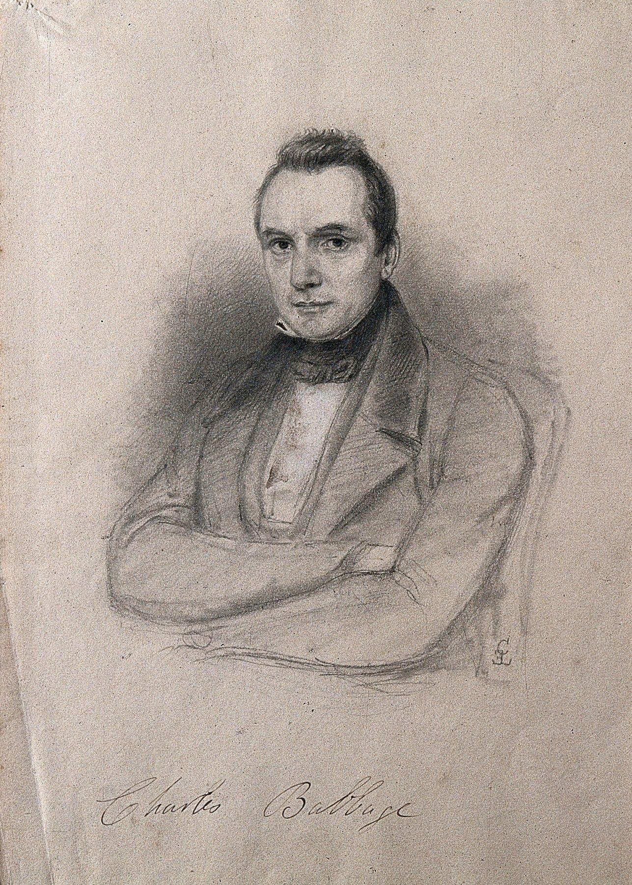 Pencil drawing by c e liverati 1841