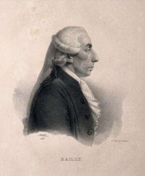 view Jean Sylvain Bailly. Lithograph by J.B. Mauzaisse, 1823.