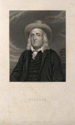 view Jeremy Bentham. Engraving by J. Posselwhite after J. Watts.