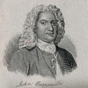 view Johann Bernoulli. Line engraving.