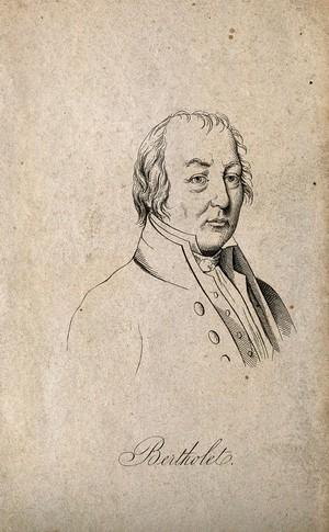 view Claude Louis Berthollet. Etching.